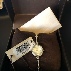 NWT and box Badgley Mischka lady's watch in silver
